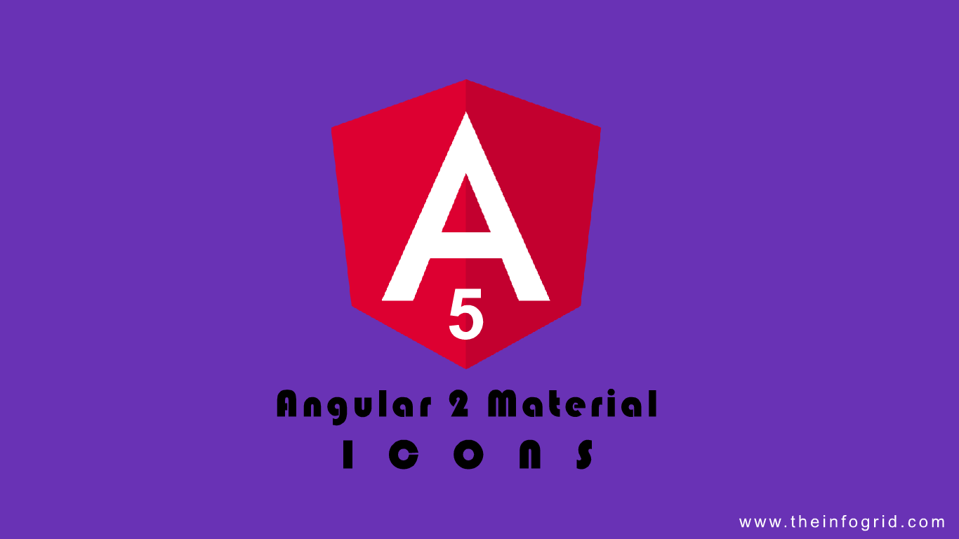 Angular Material Icons Components with Angular 5