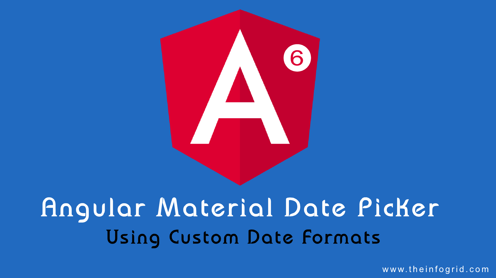 Using custom date formats for Angular Material Date Picker