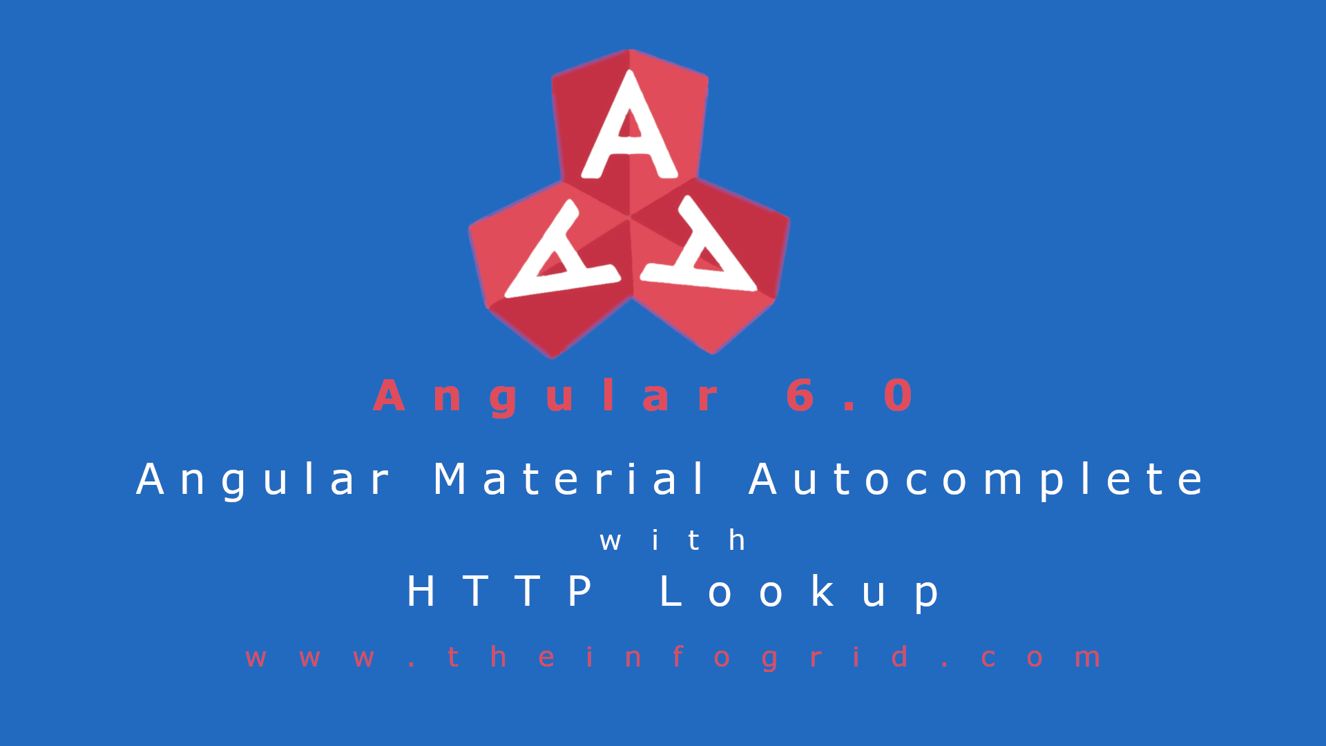 Angular Material Autocomplete with HTTP Lookup