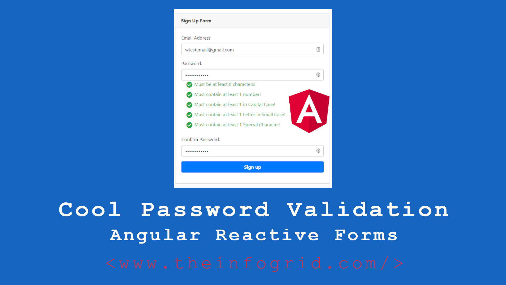 Cool Password Validation – Angular Reactive Forms | Coding Latte